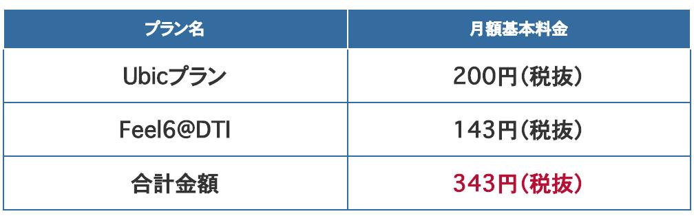 IPv6 プラン 月額料金